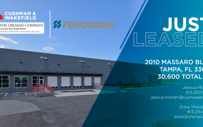 The Dikman Company Leased New Build in East Tampa to Ferguson; Signed Five-Year Agreement on 30,600-Square-Foot Property
